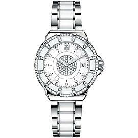 BRAND NEW TAG HEUER FORMULA 1 WAH121D.BA0861 DIAMOND WHITE CERAMIC LUXURY WATCH