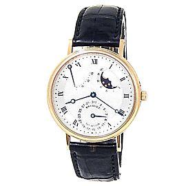 Breguet Classique Power Reserve 18k Yellow Gold Silver Men's Watch 3137BA/11/986