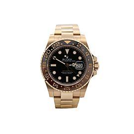 Men's Rolex GMT-Master II, 18k Rose Gold, 40mm, Black dial, 126715CHNR