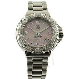 TAG HEUER LADIES FORMULA 1 WAC1216.BA0852 DIAMOND PINK STEEL WATCH