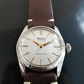 Mens Unisex Midsize Rolex Oyster Precision 30mm 1960s Manual Dress Watch