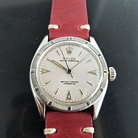 Mens Rolex Oyster Perpetual Ref 6103 34mm Automatic 1950s Vintage RA154RED