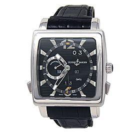 Ulysse Nardin Quadrato Dual Time Perpetual Automatic Black Men's Watch 320-90/92