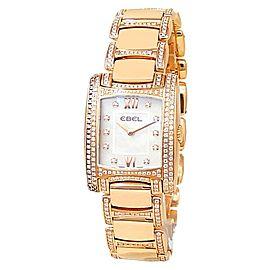 Ebel Brasilia Lady Joaillerie 18k Rose Gold Quartz Diamonds Ladies Watch 1290088