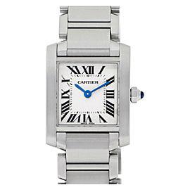 Cartier Tank Francaise W51008Q3 Steel 25.0mm Women's Watch