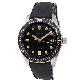 Oris Drivers Sixty-Five Stainless Steel Auto Black Men's Watch 01 733 7720 4354