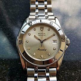 Mens Rolex Tudor Geneve Monarch II Ref 15650 1980s 35mm Quartz Diver LV952