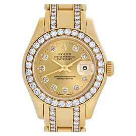 Rolex Pearlmaster 69298 Gold 29.0mm Women's Watch