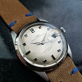 Mens Tudor Prince Oysterdate 7996 34mm 1960s Automatic Swiss Vintage LV778TAN