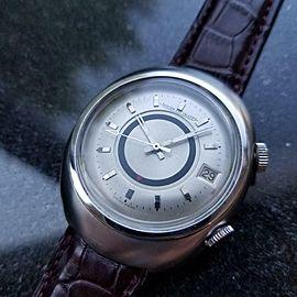 Mens Jaeger LeCoultre Memovox E861 38mm 1960s Automatic Date Alarm Vintage MS121