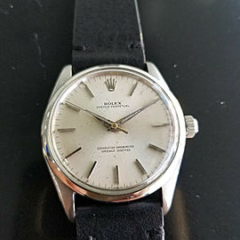 Mens Rolex Oyster Perpetual Ref 1002 34mm Automatic 1960s Swiss Vintage RA143