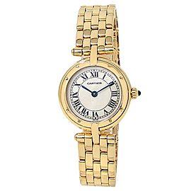 Cartier Panthere 18k Yellow Gold Quartz White Ladies Watch