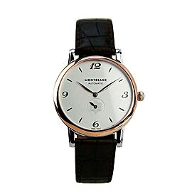 MONTBLANC 39 mm STAR LEGACY AUTOMATIC WATCH STEEL & SOLID ROSE GOLD 107309 NEW