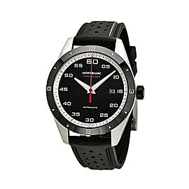 MONTBLANC TIMEWALKER STEEL & CERAMIC 41 mm AUTOMATIC WATCH RUBBER 116059 NEW BOX