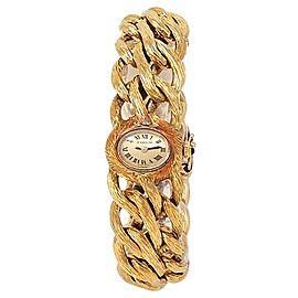 Corum Vintage 18k Yellow Gold Manual Champagne Ladies Watch