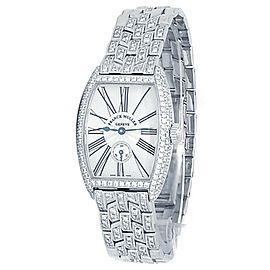 Franck Muller Cintree Curvex 18k White Gold Manual Silver Ladies Watch 1752 S6