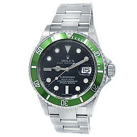 Rolex Submariner Kermit Stainless Steel Oyster Auto Green Black Mens Watch 16610