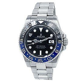 Rolex GMT-Master Batman Stainless Steel Oyster Auto Black Men's Watch 116710BLNR
