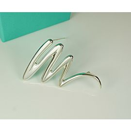 """Tiffany & Co. Paloma Picasso Sterling Silver Large 2.5"""" Scribble Brooch Retired"""