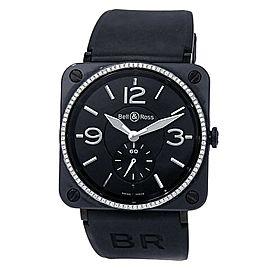 Bell & Ross BR S Black Ceramic Rubber Diamonds Black Ladies Watch BRS-98-BCS