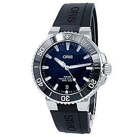 Oris Aquis Date Stainless Steel Rubber Auto Blue Men's Watch 01 733 7732 4135