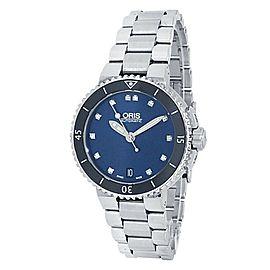 Oris Aquis Date Stainless Steel Auto Diamonds Blue Men's Watch 01 733 7652 4195