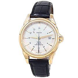 Omega De Ville Co-Axial GMT 18k Yellow Gold Auto Silver Men's Watch 4633.30.00