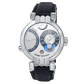Harry Winston Premier Excenter 18k White Gold Manual Silver Watch 200/MMTZ39W