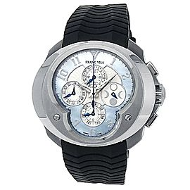 Franc Vila Master Quantieme Stainless Steel Rubber Automatic Blue MOP Watch Fva9