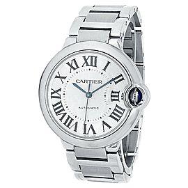 Cartier Ballon Bleu Stainless Steel Automatic Silver Men's Watch W6920046