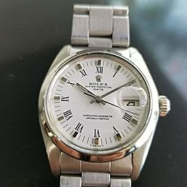 Mens Rolex Oyster Perpetual Date 1970s 1500 35mm Automatic Vintage Watch RA132