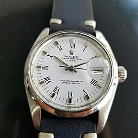 Mens Rolex Oyster Perpetual Date 1500 35mm Automatic 1970s Swiss RA132BLU