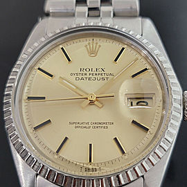 Mens Rolex Oyster Datejust 1603 36mm Automatic 1970s Swiss Vintage RA226