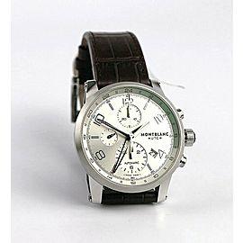MONTBLANC TIMEWALKER STEEL 43mm AUTOMATIC CHRONOVOYAGER UTC WATCH 107065 NEW