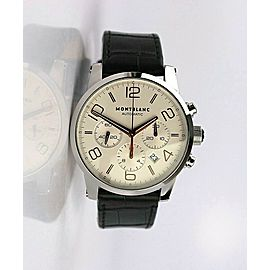 MONTBLANC TIMEWALKER STEEL 43 mm AUTOMATIC CHRONOGRAPH WATCH 101549 SCRATCHES