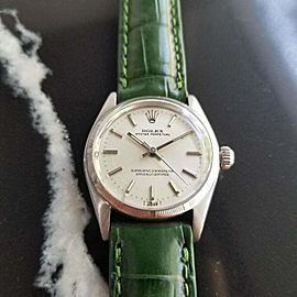 Midsize Rolex Oyster Perpetual Ref 6549 30mm Automatic 1960s Vintage RA128GRN