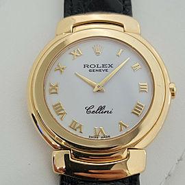 Midsize Rolex Cellini Ref 6622 33mm 18k Solid Gold Quartz 1990s Swiss RJC109