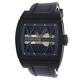 Corum Ti-Bridge Black Titanium Rubber Manual Black Skeleton Men's Watch 05.0040
