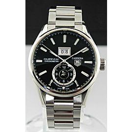 TAG HEUER CARRERA WAR5010.BA0723 CHRONOMETER GRANDE DATE CALIBRE 8 GMT WATCH