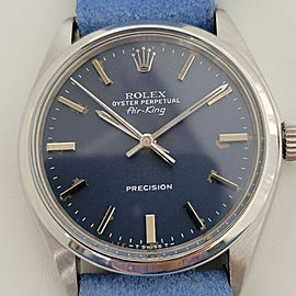 Mens Rolex Oyster Perpetual Air-King Ref 5500 35mm Automatic 1970s Vintage RA197