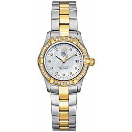 TAG HEUER AQUARACER WAF1450.BB0814 DIAMOND PEARL LUXURY LADIES GOLD TONE WATCH