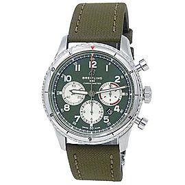 Breitling Aviator 8 B01 Curtiss Warhawk Stainless Steel Green Men's Watch AB0119