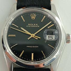 Mens Rolex Oysterdate Precision Ref 6694 35mm Hand-Wind 1970s Vintage RJC110