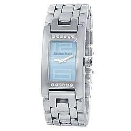 Audemars Piguet Promesse Stainless Steel Diamonds Blue Watch 67259ST.Z.1156ST.3