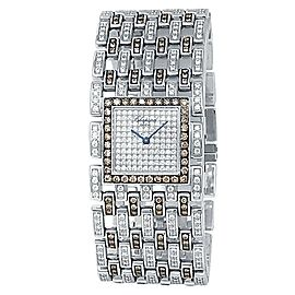 Chopard Montres Dame 18k White Gold Quartz Diamonds Ladies Watch 10/6971