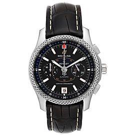 Breitling Bentley Mark VI Black Dial Steel Platinum Mens Watch P26362