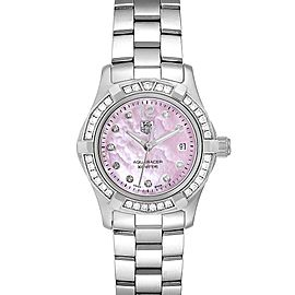 TAG Heuer Aquaracer Mother of Pearl Diamond Ladies Watch WAF141B