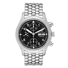 IWC Pilot Flieger Chronograph Day Date Automatic Watch IW370607