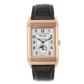 Jaeger LeCoultre Grande Reverso Calendar Moonphase Rose Gold Watch Q3752520