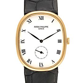 Patek Philippe Golden Ellipse 18k Yellow Gold Mens Watch 3948